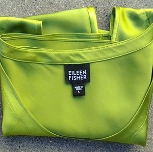 🎻Eileen Fisher 100% silk chartreuse shell large